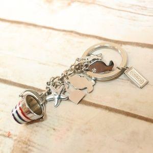 Coach Silver Beach Theme Keychain
